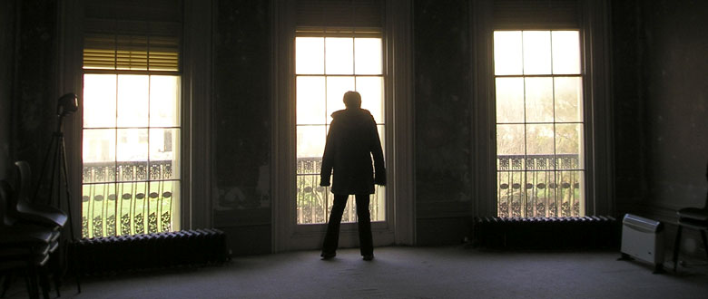 Silhouette against window